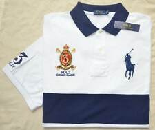 New 3XLT 3XL TALL POLO RALPH LAUREN Men Big Pony rugby shirt White navy 3XT top