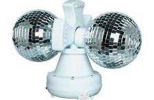Twin Rotating Double Disco Ball Lamp RRP 19.99 lot GD