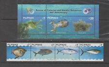 Philippine Stamps 2007 Fisheries & Aquatic Resources set & souvenir sheet MNH