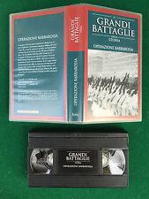 VHS - OPERAZIONE BARBAROSSA WW2 (1941) Le Grandi battaglie della storia