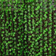 2.4M Künstliche Efeu Efeubusch Efeugirlande Kunstpflanzen Haus Deko Pflanze