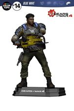 "GEARS OF WAR 4 DEL WALKER 7"" inch ACTION FIGURE COLOUR TOPS BLUE MCFARLANE"