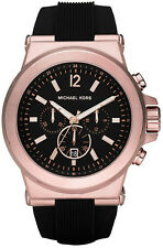 NEW Michael Kors MK8184 Dylan Black & Rose Gold Men's Watch