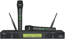 2x100 CH UHF Wireless Hand held Microphones Mic System KS-612 A