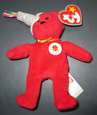 Red Ty Stuffed Bear 2004 McDonald's 25th Happy Meal 5 in tall
