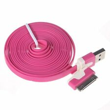 3m Extra Long Flat Noodle  Charger USB Cable Lead for Apple iPhone 4s 4 iPod