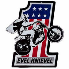 EVEL KNIEVEL MOTORCYCLE METAL SIGNS HARLEY SHOP GARAGE MAN CAVE LEATHER CHOPPER
