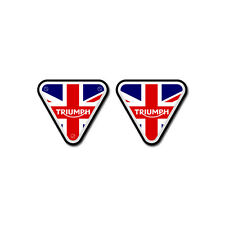 KIT 2 STICKERS ADESIVI 3D RESINATI PER MOTO TRIUMPH ALTERNATIVE 4x3,5 cm TR-005