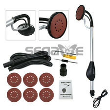 750W Electric Power Drywall Sander w/ Dust Collection Vacuum Hose Dustless Round