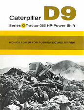 Caterpillar D9G Tractor Sales Brochure 1961
