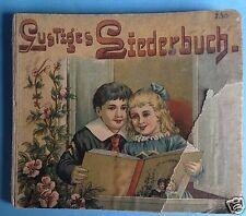 Buch Kinderbuch Bilderbuch Liederbuch Kinderlieder 8 Lieder illustriert ~1900