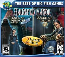 Haunted Manor Lord of Mirrors & Queen of Death 2 Game Pack PC hidden object seek