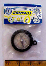 Vintage Hong Kong TOY TIRE COMPASS Unopened in Original Display Package NOS