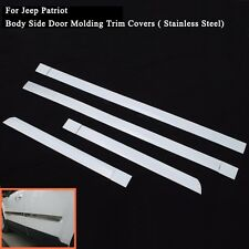 1Set Chrome Body Side Molding For Jeep Patriot Jeep Compass Chafing Strip 11-14