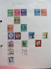 U.S.A. 18 ASSORTED SMALL STAMPS **GC USED MOUNTED**