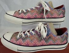 New Womens 10 CONVERSE Missoni CT OX Egret Metallic Multi Shoes $95 147338C