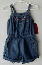 OshKosh B'Gosh One-Piece Denim Tank-Romper Toddler Girl size 4T NWT G82477