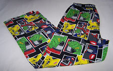 Transformers Mens Black Printed Flannel Sleep Pants Size XL New