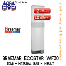 BRAEMAR ECOSTAR WF30 WALL FURNACE - 30Mj - NATURAL GAS - INBUILT