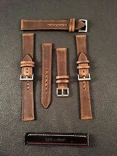 20mm Or 22mm Distressed Crazy Horse Leather Watch Strap
