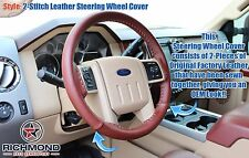2009 F-250 F-350 King Ranch 4X4 2WD Diesel-Leather Steering Wheel Cover 2-Stitch
