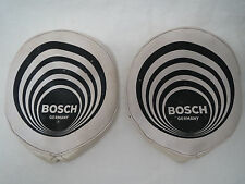 "VINTAGE BOSCH 6"" ROUND RALLY FOG LIGHT COVER PAIR Porsche 356 911 VW lamp Audi"
