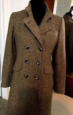 Vintage Bromleigh Long Brown Wool Double Breasted  Coat Union Tag Sz XS