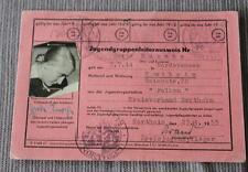 Original Jugendgruppenleiter - Ausweis FALKEN für eine Frau 1953 / Northeim