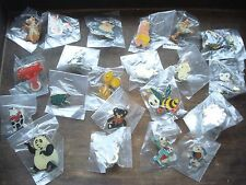 CARTOON ANIMALS TEDDY BEAR MONKEY FOX PIG BEE FROG PIN BADGE JOB LOT BUNDLE SET