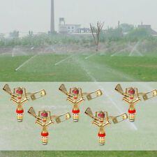 "5pcs 1/2"" Garden Lawn Yard Grass Full 360 Rotary Water Irrigation Sprinkler Head"