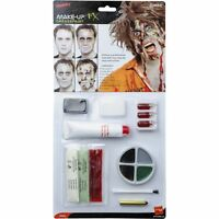 Dead Zombie Face Paint Kit - Halloween Fancy Dress Costume Make Up, Latex, Blood