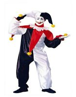 Adult Jester Costume Clown Joker Mime Fancy Dress Party