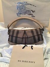 BURBERRY SIGNATURE SMOKED NOVA CHECK HANDBAG AUTHENTIC  MADE IN ITALY