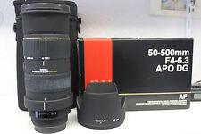 SIGMA DG ex 50-500 mm f/4-6.3 APO HSM Obiettivo per Canon