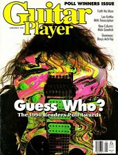 Guitar Player Magazine January 1991 Steve Vai, Faith No More, Poll Awards