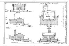 Collection of wood and log cottages, architectural plans, Craftsman style charm