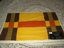 RETRO Vintage Comtempo paper placemets 20 placemats brown gold orange colors NIP