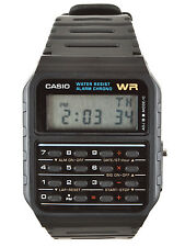 CASIO BLACK CALCULATOR WATCH CA-53W-1Z, Alarm, stopwatch & dual time