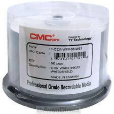 50 CMC Pro TY White Inkjet 52x Hub Glossy Watershield CD-R [FREE Priority Mail]
