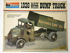 Vintage Monogram #2400 1926 Mack Bulldog Dump Truck 1:24 Scale Model Kit, 1976