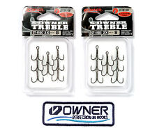 Owner Treble Hook ST 41BC #8 CuttingPoint Black chrome hooks + 1 Owner's patch