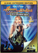 Hannah Montana & Miley Cyrus: Best of Both Worlds Concert (DVD, 2008, 2-Disc...