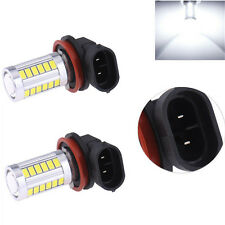 2X H8/ H11 SUPER BRIGHT CREE 33 LED PROJECTOR LENS Fog Lamp Bulb For Cars- WHITE