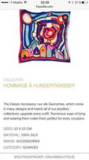 Frey Wille 100% Silk Rectangular Scarf (NEW $105) Hommage A Hindertwasser