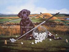 DRIVE FOR SHOW PUTT FOR DOUGH Phillip Crowe S/N Golf black Labrador Retriever