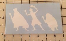 "Haunted Mansion Hitchhiking Ghost 6"" White Vinyl Decal Sticker - Free Shipping"