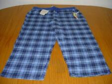 NEW WT DISNEY TINKERBELL PAJAMA BOTTOMS 16/18 TEEN JR WOMANS BLUE PLAID COTTON