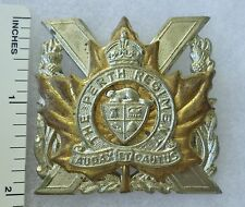 ORIGINAL 1940s Vintage CANADIAN ARMY PERTH REGIMENT CAP BADGE