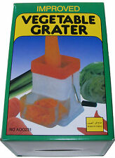 HAND OPERATED / HAND CRANK ROTARY VEGETABLE GRATER / GRATING MACHINE - NEW