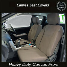 NISSAN NAVARA ST-R ST STX RX PREMIUM CANVAS SEAT COVER FRONT PAIR AIRBAG SAFE
